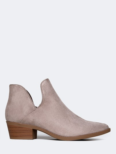 J. Adams Ankle Round Toe Sandals Low Heels Clay Boots
