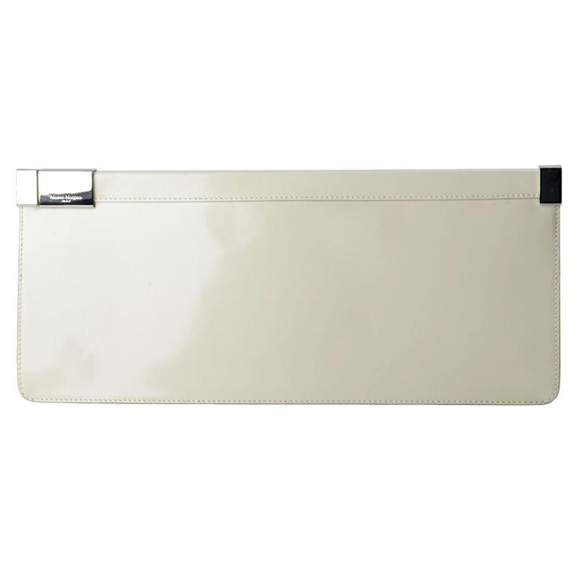 "Item - ""11"" Women's Long Gray Polished Leather Clutch"