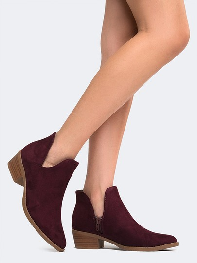 J. Adams Ankle Round Toe Sandals Heels Vino Boots
