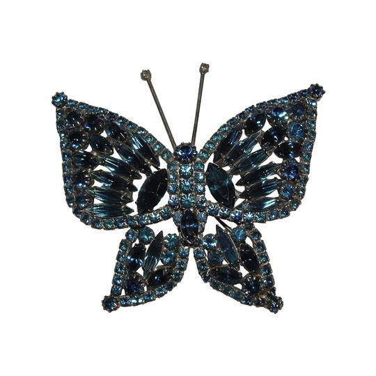 Preload https://img-static.tradesy.com/item/21562786/bluesilver-massive-crystal-rhinestone-butterfly-pin-0-1-540-540.jpg