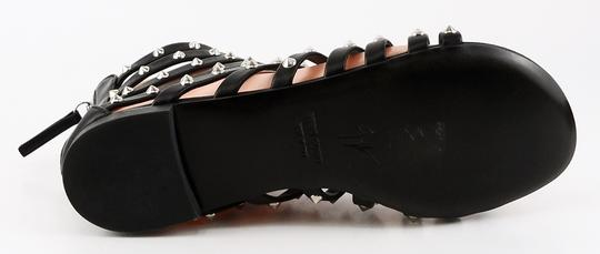 Giuseppe Zanotti Leather Strappy Gladiator Studded Black Sandals