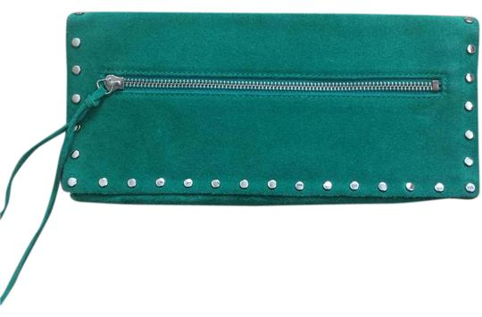 Preload https://item2.tradesy.com/images/banana-republic-239688-309839-green-cow-leather-suede-clutch-21563006-0-3.jpg?width=440&height=440