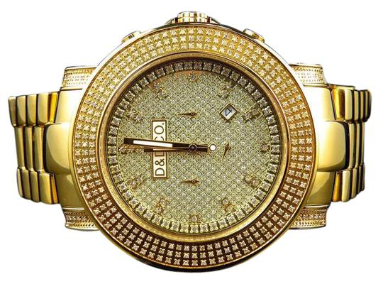 Preload https://img-static.tradesy.com/item/21563017/yellow-steel-mens-and-co-iced-out-40-ct-watch-0-1-540-540.jpg