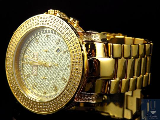 Diamonds & Diamonds Mens Diamond and Diamond Co Iced Out Diamond Watch 4.0 Ct