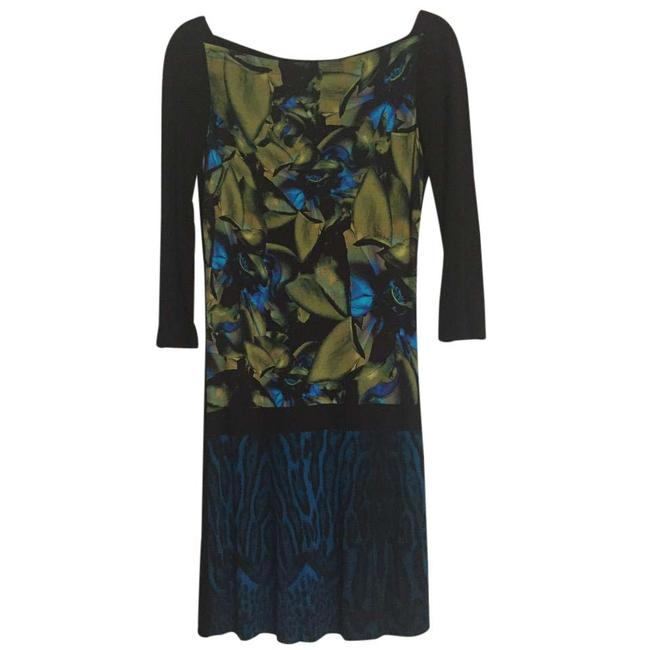 Preload https://item5.tradesy.com/images/roberto-cavalli-green-olive-animal-floral-print-mid-length-cocktail-dress-size-4-s-21563024-0-1.jpg?width=400&height=650