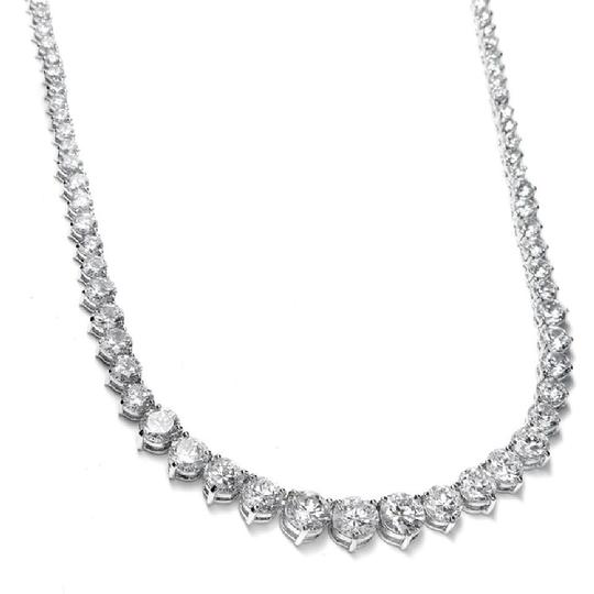 Preload https://item5.tradesy.com/images/mariell-silver-graduated-cubic-zirconia-tennis-531n-necklace-21563104-0-0.jpg?width=440&height=440