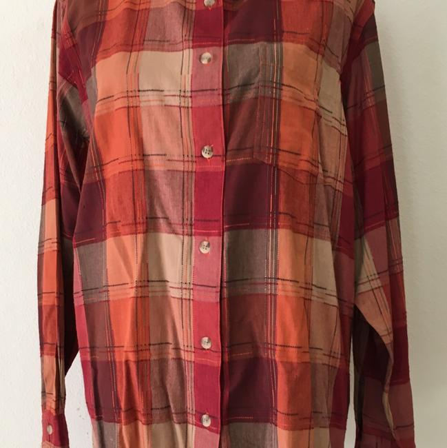 dressbarn Button Down Shirt Multi Color