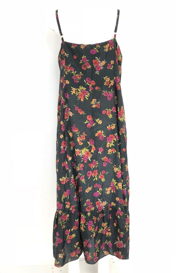 Johnny Was Multicolor Floral Silk Long Casual Maxi Dress Size 22