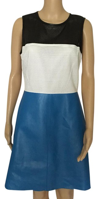 Preload https://item4.tradesy.com/images/l-agence-blue-white-black-mid-length-cocktail-dress-size-4-s-21563398-0-1.jpg?width=400&height=650