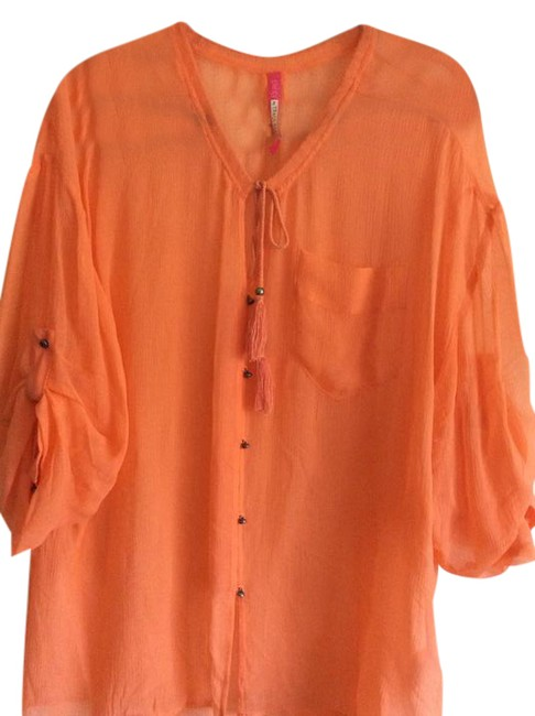 Preload https://item4.tradesy.com/images/tracy-reese-orange-designer-tunic-size-14-l-21563458-0-1.jpg?width=400&height=650