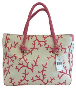 Kate Spade Tote in Cream/Pink