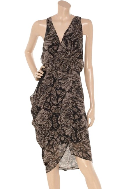 Preload https://item2.tradesy.com/images/factory-by-erik-hart-black-and-mink-print-printed-draped-asymetic-short-night-out-dress-size-2-xs-21563726-0-1.jpg?width=400&height=650