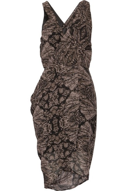Factory by Erik Hart Draped Printed Asymetric Sexy Dress