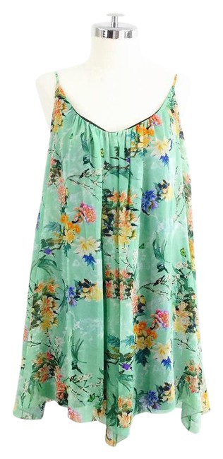 Preload https://item1.tradesy.com/images/zara-green-floral-swing-mini-low-back-short-casual-dress-size-8-m-21563840-0-3.jpg?width=400&height=650