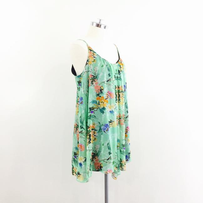 Zara short dress Green floral on Tradesy