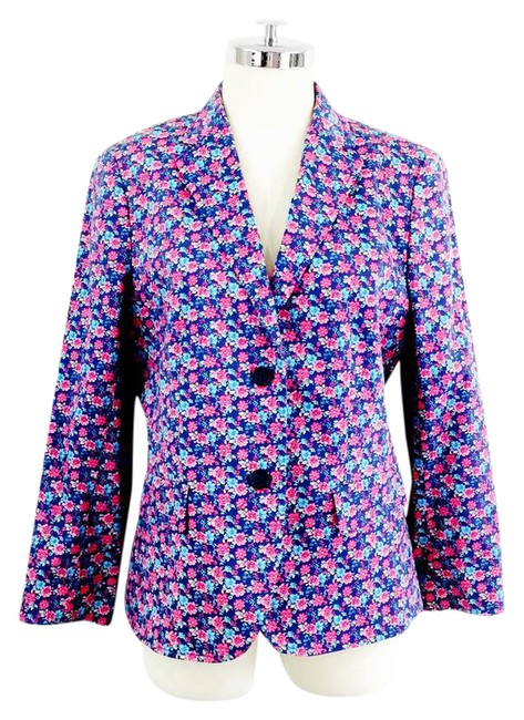Preload https://item2.tradesy.com/images/brooks-brothers-pink-and-blue-floral-and-blazer-size-10-m-21563896-0-2.jpg?width=400&height=650