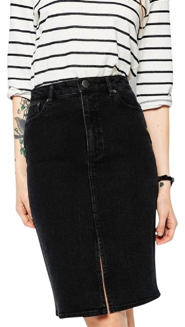 Preload https://item3.tradesy.com/images/asos-washed-black-vogue-black-denim-split-front-midi-pencil-size-4-s-27-21563922-0-2.jpg?width=400&height=650