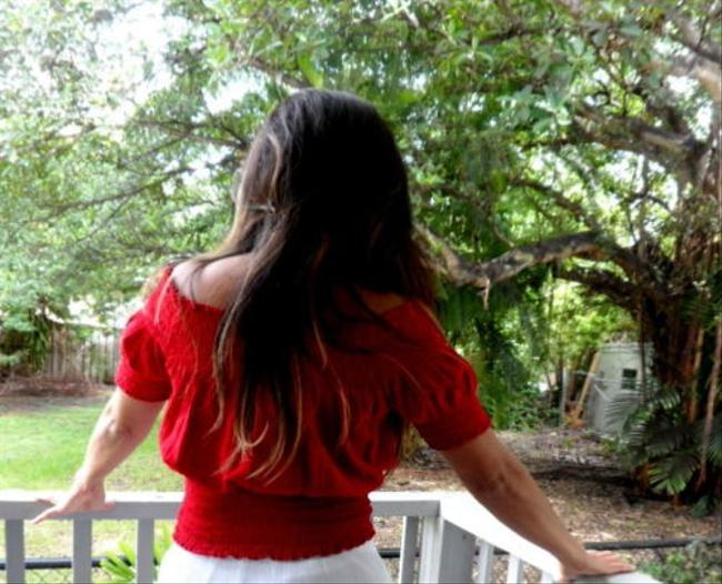 Lirome Summer Casual Chic Top Red