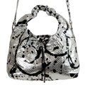 "Maison Margiela ""11"" Women's Sparkle Handbag Shoul Silver / Black Python Skin Leather Shoulder Bag Maison Margiela ""11"" Women's Sparkle Handbag Shoul Silver / Black Python Skin Leather Shoulder Bag Image 2"