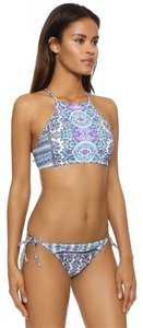 Nanette Lepore Paros Stargazer Paisley High-Neck Swim Top & Vamp Bikini Bottom M