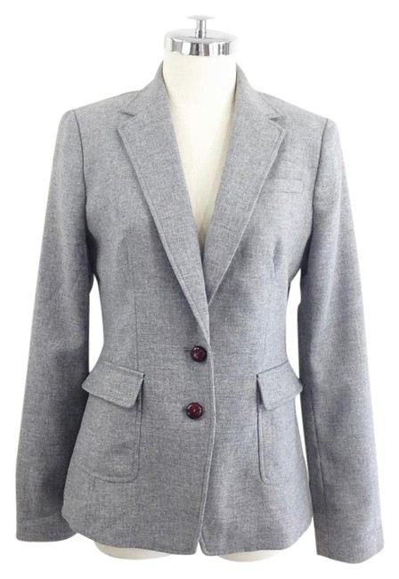 Preload https://item5.tradesy.com/images/banana-republic-grey-with-elbow-patches-blazer-size-8-m-21564139-0-2.jpg?width=400&height=650