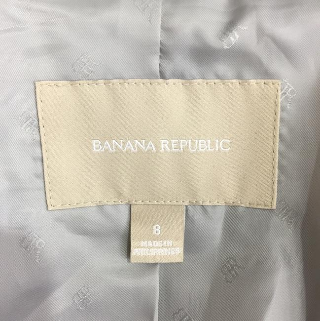 Banana Republic Elbow Patches Wool Wood Buttons Grey Blazer