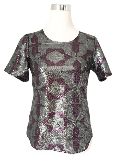 Preload https://img-static.tradesy.com/item/21564173/jenny-han-grey-berry-geometric-sequined-tee-shirt-size-0-xs-0-1-650-650.jpg