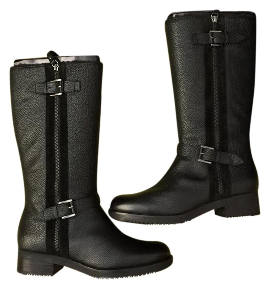0f1583f424d Ecco Black Alta Tall Boots Booties Size US 7.5 Regular (M
