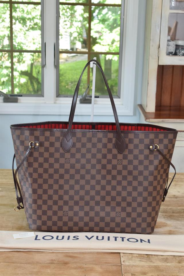 Louis Vuitton Neverfull Gm Largest In Damier Ebene Tote