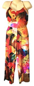 Nanette Lepore Bold Fish Print Pull-On Swimsuit Cover-Up Jumpsuit Romper Size S