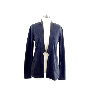 Alternative Apparel Frech Terry Notched Blazer Open Faded Grey Jacket