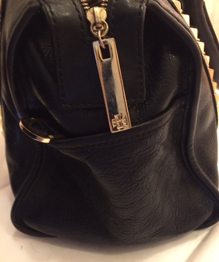 Tory Burch Studs Summer Satchel in Black with Gold hardwear