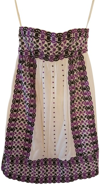 Preload https://img-static.tradesy.com/item/21564337/tibi-white-purple-and-black-new-york-embroidered-strapless-mid-length-short-casual-dress-size-6-s-0-4-650-650.jpg