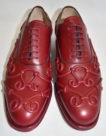 Valentino Oxford Lace Up red leather Sandals