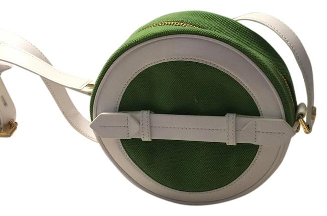 Item - Canteen Green and White Leather Shoulder Bag