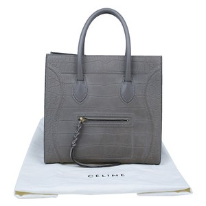 f7691f764 Cline Croc-embosssed Like New Luggage Phantom Tote in grey. Céline