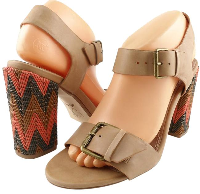Item - Tan Tessa Leather Designer Open Toe Sandals Size US 6 Regular (M, B)