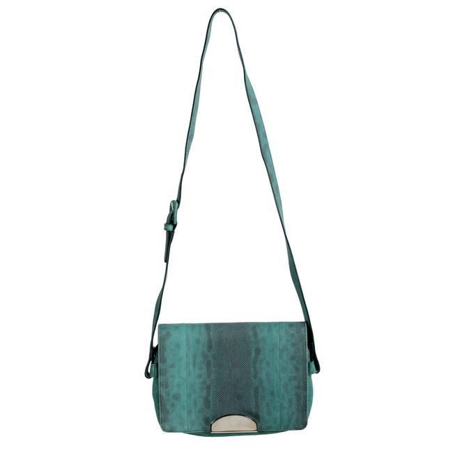 "Item - Crossbody ""11"" Women's Green / Gray Snake Skin / Leather Shoulder Bag"