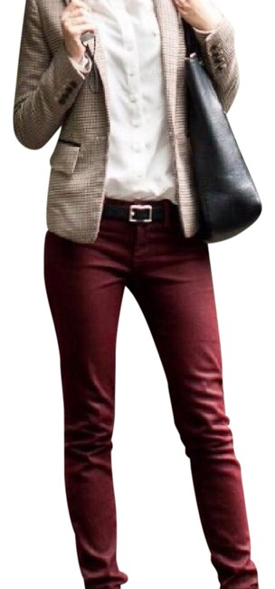 Preload https://img-static.tradesy.com/item/21564519/banana-republic-burgundy-coated-wax-skinny-jeans-size-25-2-xs-0-3-650-650.jpg