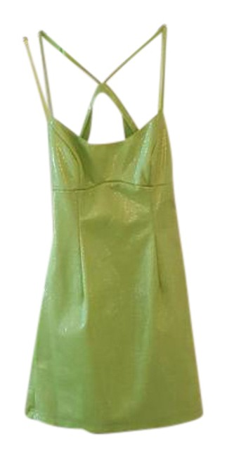 Item - Lime Green Spaghetti Strap Mid-length Night Out Dress Size 4 (S)