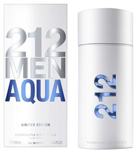 Carolina Herrera 212 AQUA ( Lim Edition) by C. Herrera 3.4 oz /100 ml EDT Spray Men New