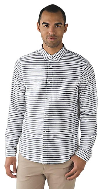 Preload https://item2.tradesy.com/images/lululemon-white-men-s-commission-long-sleeve-oxford-button-down-top-size-10-m-21564806-0-2.jpg?width=400&height=650