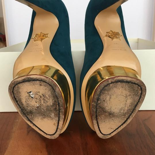 Charlotte Olympia Teal Platforms