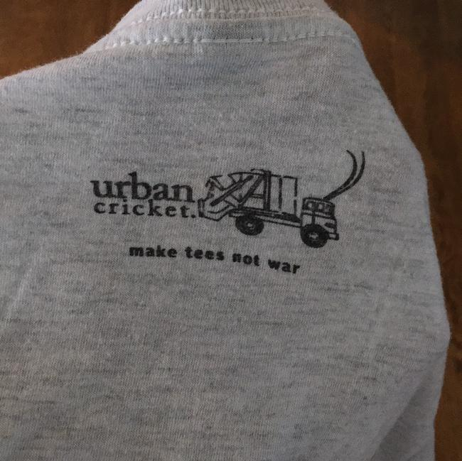 Urban Cricket V-neck Dolly Parton A Little Bit Country Hand-made T Shirt grey