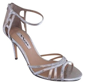 Nina Shoes Strappy Ankle Strap Silver Formal