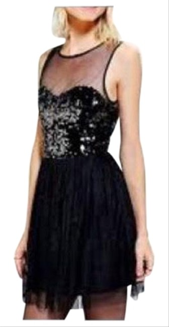 Preload https://img-static.tradesy.com/item/21564976/pins-and-needles-black-by-urban-outfitters-short-cocktail-dress-size-2-xs-0-8-650-650.jpg