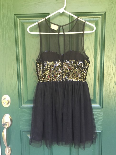 Pins and Needles Party Sequin Tulle Fit Flare New Years Eve Dress