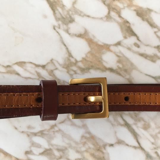 Banana Republic Two-tone Leather Skinny Leather Belt