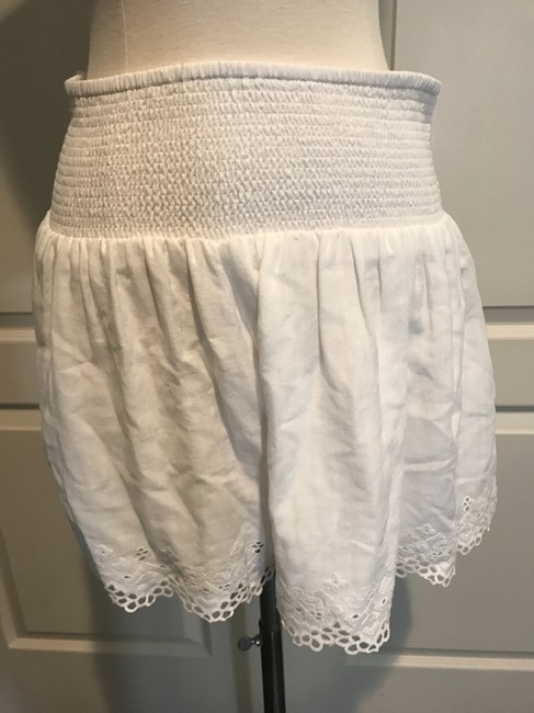 Rebecca Taylor Skort Lace Dress Shorts WHITE/IVORY