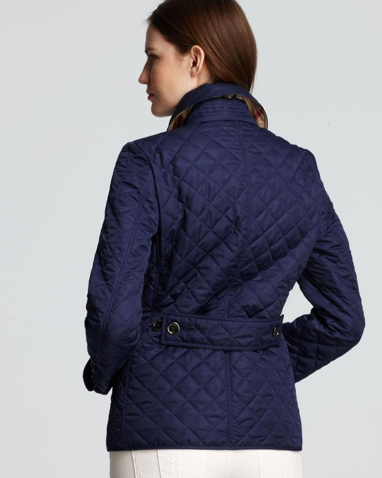 Burberry Brit Sapphire Copford Quilted Spring Jacket Size 8 (M ... : quilted burberry coat - Adamdwight.com